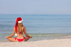 Relaxing beach christmas vacation Stock Photography