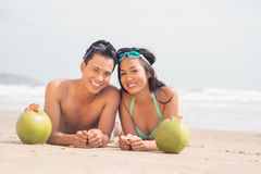 Relaxing on the beach Stock Image