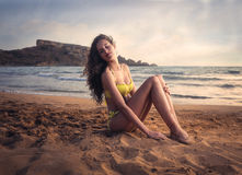 Relaxing at the beach Royalty Free Stock Photos