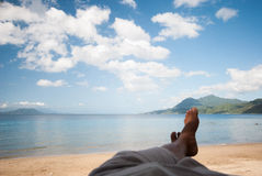 Relaxing at the beach of Lobo, Batangas, Philippines.  Royalty Free Stock Photo