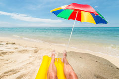 Relaxing at he beach Royalty Free Stock Photos