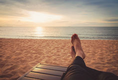 Relaxing on the beach Royalty Free Stock Photo