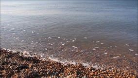 Relaxing beach tide stock video