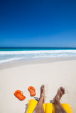 Relaxing  at the beach Royalty Free Stock Images
