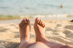 Relaxing on the Beach Stock Photos