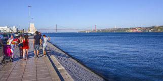 Relaxing at beautiful Tagus River in Lisbon aka Tejo