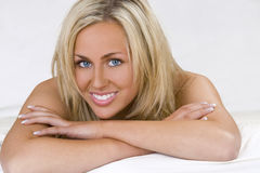 Relaxing On The Bed Stock Photography