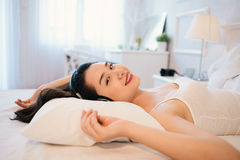 Relaxing in bed Royalty Free Stock Image