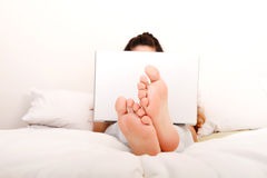 Relaxing in the bed Royalty Free Stock Image