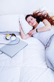 Relaxing in the bed Royalty Free Stock Photography