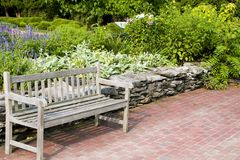 Relaxing Bench Scene stock photography