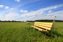 Relaxing bench royalty free stock images