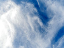 Relaxing blue sky with clouds Stock Photos