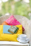 Relaxing with books Royalty Free Stock Photography