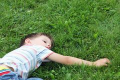 Relaxing boy Royalty Free Stock Images