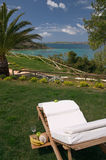 Relaxing breakfast, Cephalonia Royalty Free Stock Photos