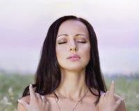 Relaxing brunette  women Stock Images