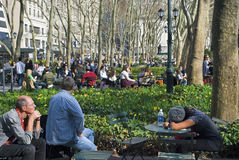 Relaxing Bryant Park Stock Images