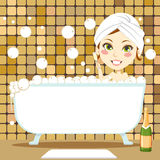 Relaxing Bubble Bath Royalty Free Stock Photos