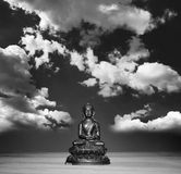 Relaxing Buddha and free mind Stock Photo