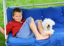 Relaxing buddies royalty free stock images