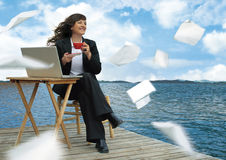 Relaxing business  Royalty Free Stock Photography
