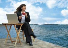 Relaxing business Stock Image