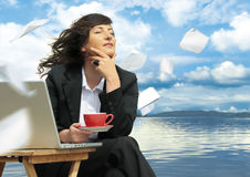 Relaxing business  Royalty Free Stock Image