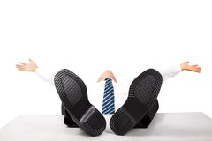 Relaxing Business Man Royalty Free Stock Images