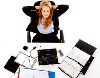 Relaxing business woman break Stock Photos