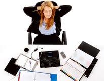Relaxing business woman break Stock Photos