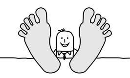 Relaxing businessman vector illustration