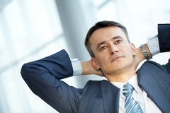 Relaxing businessman Stock Photography