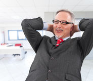 Relaxing businessman Stock Images