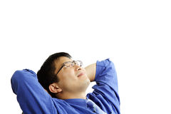 Relaxing businessman Royalty Free Stock Photos