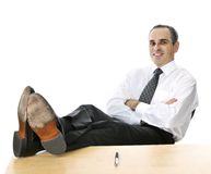 Relaxing businessman Royalty Free Stock Photography