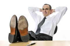 Relaxing businessman Stock Photos