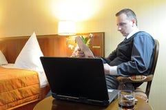 Relaxing businessman stock photos