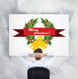 Relaxing businessman Royalty Free Stock Images