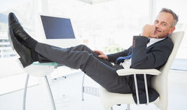 Relaxing businessman enjoy his day Royalty Free Stock Photography