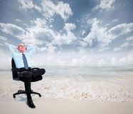 Relaxing businessman. Royalty Free Stock Photography