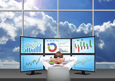Relaxing businessman Royalty Free Stock Image