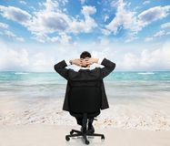 Relaxing businessman. Royalty Free Stock Images