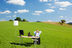 Relaxing businessperson Royalty Free Stock Images