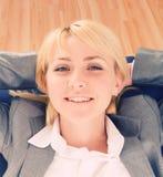 Relaxing businesswoman Stock Photos