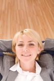 Relaxing businesswoman Stock Images