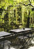 A relaxing cafe restaurant outdoor Stock Image