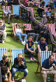 Relaxing at Camden Market. Royalty Free Stock Images