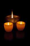Relaxing candles Stock Photos