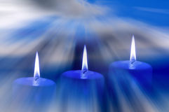 Relaxing candles Royalty Free Stock Image